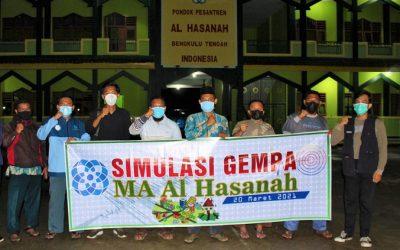 Ciptakan Pesantren Siaga Bencana, Ponpes Al Hasanah Gelar Simulasi Gempa Bumi